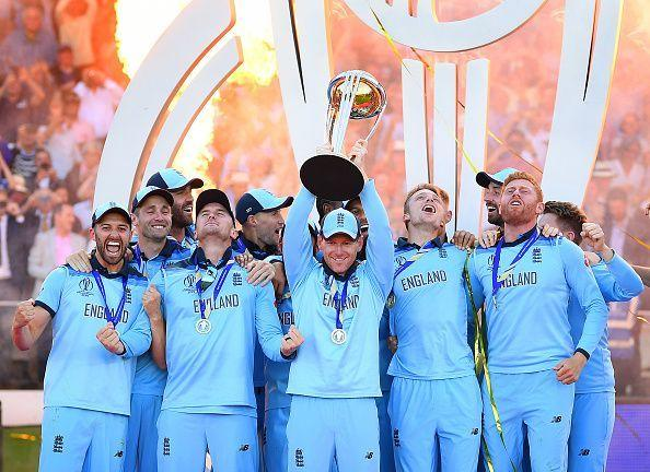 England lifted the World Cup for the first time on Sunday