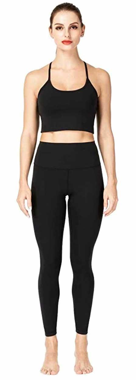 High-waisted squat proof workout leggings or yoga pants