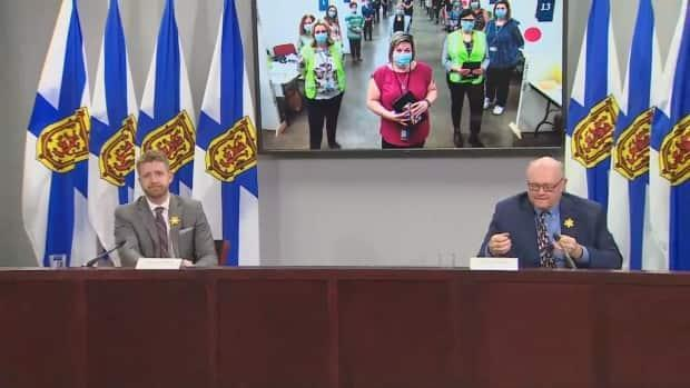 Premier Iain Rankin said the province had reached a milestone with over 100,000 Nova Scotians receiving a COVID-19 vaccine shot.  (CBC - image credit)