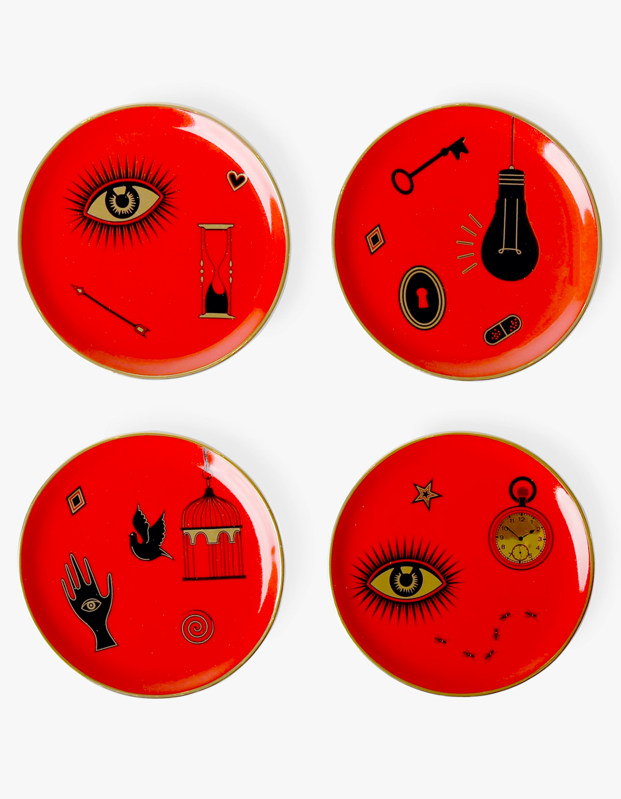 "These mystical coasters are begging to be topped with a fresh watermelon juice or a <a href=""https://www.glamour.com/gallery/best-wine-subscriptions?mbid=synd_yahoo_rss"" rel=""nofollow noopener"" target=""_blank"" data-ylk=""slk:chilled rosé"" class=""link rapid-noclick-resp"">chilled rosé</a>—and they'll look perfect alongside a tarot deck and some incense. $88, Olivela. <a href=""https://www.olivela.com/products/jonathan-adler-bijoux-coasters-340290"" rel=""nofollow noopener"" target=""_blank"" data-ylk=""slk:Get it now!"" class=""link rapid-noclick-resp"">Get it now!</a>"