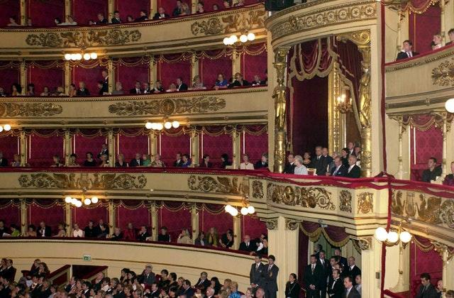 La Scala during a visit by the Queen (Archive/PA)