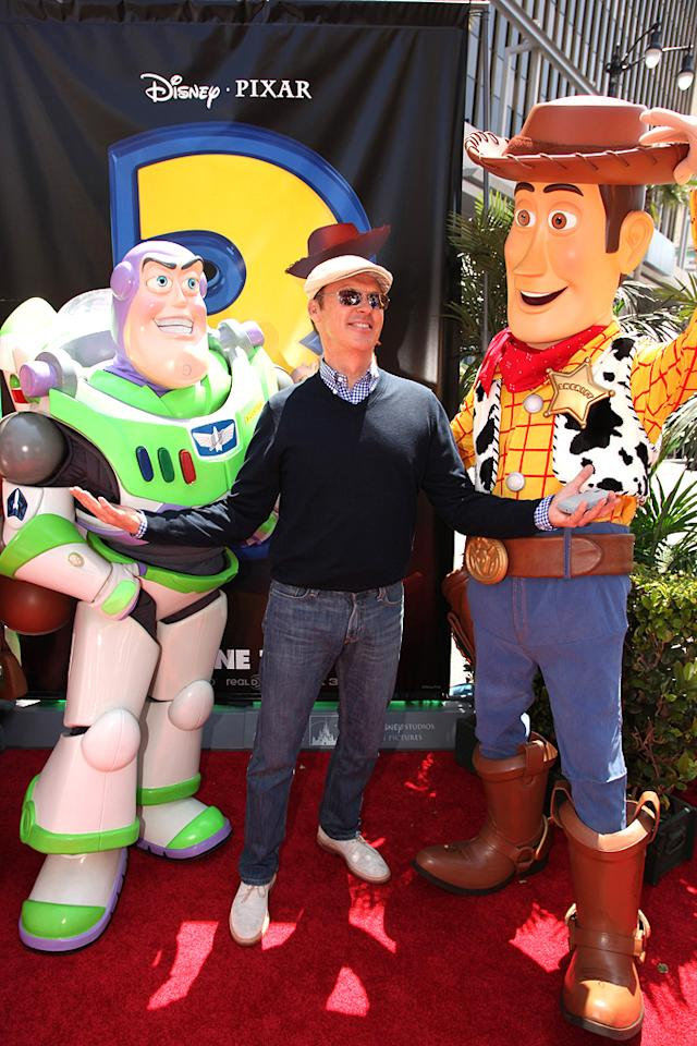 """<a href=""""http://movies.yahoo.com/movie/contributor/1800019083"""">Michael Keaton</a> at the Los Angeles premiere of <a href=""""http://movies.yahoo.com/movie/1809266566/info"""">Toy Story 3</a> - 06/13/2010"""