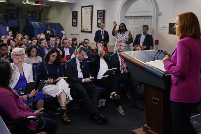 White House press secretary Jen Psaki speaks during the daily briefing at the White House in Washington, Tuesday, June 22, 2021. (AP Photo/Susan Walsh)
