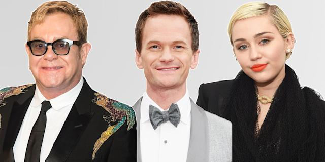 Elton John, Neil Patrick Harris, and Miley Cyrus are cheering on Australia. (Photo: Getty Images)