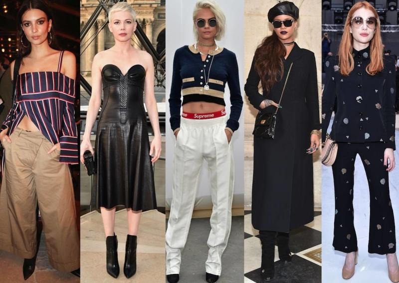 Best-Dressed Front-Row Celebs At Paris Fashion Week Fall 2017