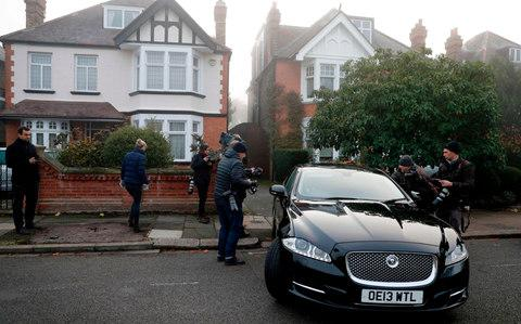 Damian Green is driven away from his home in London on November 6, after claims of sexual harassment were made against him - Credit: Adrian Dennis/AFP