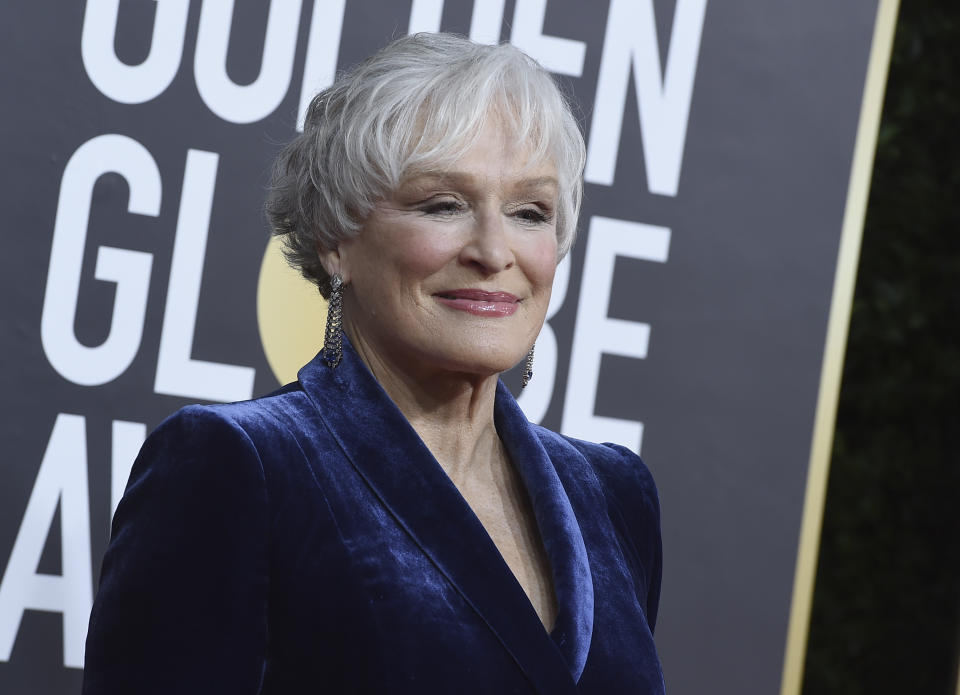 Glenn Close arrives at the 77th annual Golden Globe Awards at the Beverly Hilton Hotel on Sunday, Jan. 5, 2020, in Beverly Hills, Calif. (Photo by Jordan Strauss/Invision/AP)