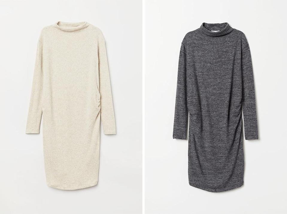 Meghan's £24.99 H&M dress is available in two colours: beige and grey. [Photo: H&M]