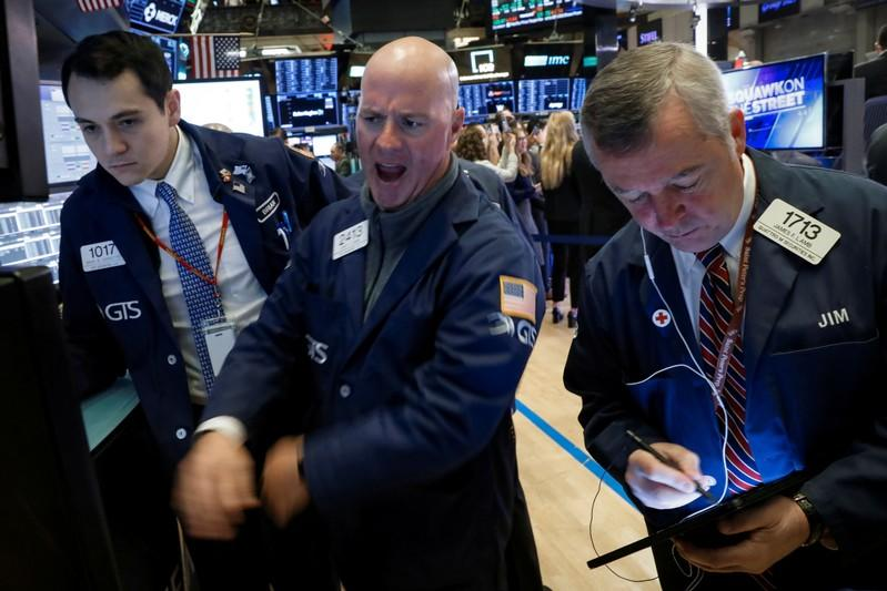 Dow, S&P 500, Nasdaq end at records on optimism on trade