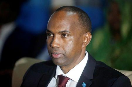 Somalia's newly appointed PM Hassan Ali Khaire attends the Parliament seating where he was confirmed in Somalia's capital Mogadishu