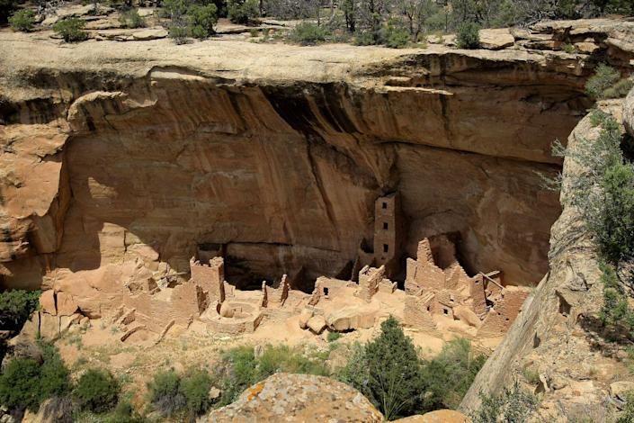<p>City dwellers lived cliffside for over 700 years from A.D. 600 to A.D. 1300. Today, the structures are preserved in Mesa Verde National Park, Colorado. // August 07, 2008</p>