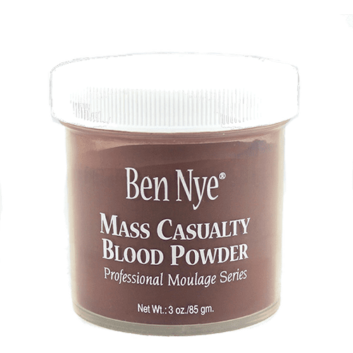 "<p>""There are a few staple products that not a lot of people know about for special effects that I use, like the <a href=""https://www.popsugar.com/buy/Ben-Nye-Mass-Casualty-Simulated-Blood-Powder-366319?p_name=Ben%20Nye%20Mass%20Casualty%20Simulated%20Blood%20Powder&retailer=alconemakeup.com&pid=366319&price=22&evar1=bella%3Aus&evar9=45287226&evar98=https%3A%2F%2Fwww.popsugar.com%2Fbeauty%2Fphoto-gallery%2F45287226%2Fimage%2F45288453%2FBen-Nye-Mass-Casualty-Simulated-Blood-Powder&list1=makeup%2Challoween%2Cbeauty%20interview%2Challoween%20beauty%2Challoween%20costumes%202019&prop13=mobile&pdata=1"" rel=""nofollow"" data-shoppable-link=""1"" target=""_blank"" class=""ga-track"" data-ga-category=""Related"" data-ga-label=""https://alconemakeup.com/shop/details/blood_products/ben_nye_mass_casualty_simulated_blood_powder,_3_oz./BNSBP1"" data-ga-action=""In-Line Links"">Ben Nye Mass Casualty Simulated Blood Powder</a> ($22), which you activate by spraying with water. Or you can buy 'eyeblood' - drops specifically for the eyes to give them that bleeding look."" </p> <p><br></p>"