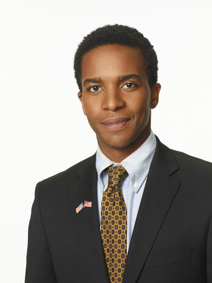 """Andre Holland as Marshall Malloy in """"1600 Penn"""" on NBC."""
