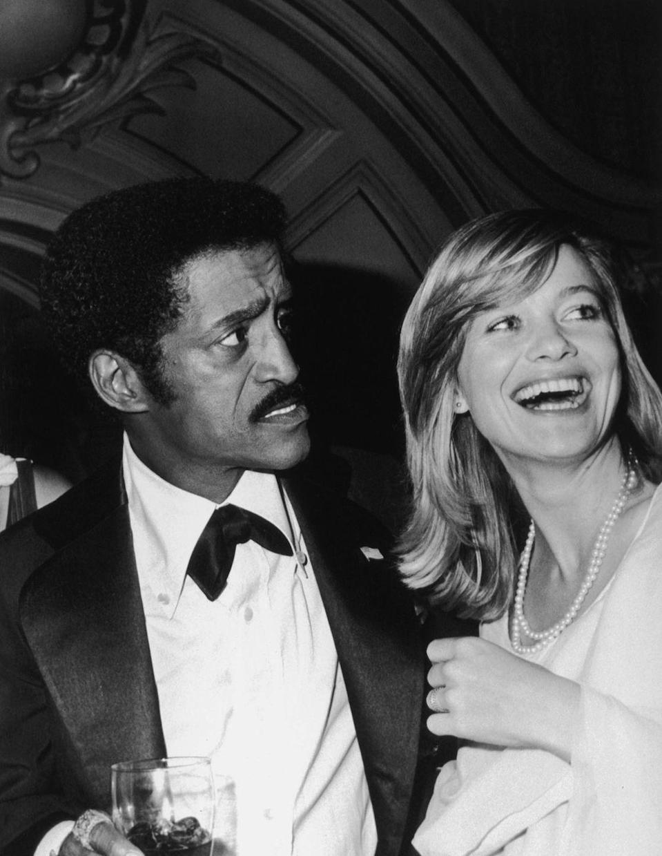 <p>Sammy Davis Jr. and Judy Geeson at a party, October 1976.</p>