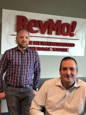 Josiah Knutsen (left) has been appointed to succeed Dimitri Haloulos (front) as president and CEO of the California-based beverage retailer BevMo!