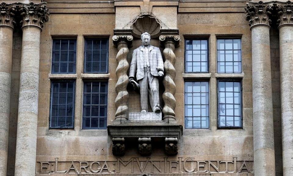 Cecil Rhodes' statue at Oxford
