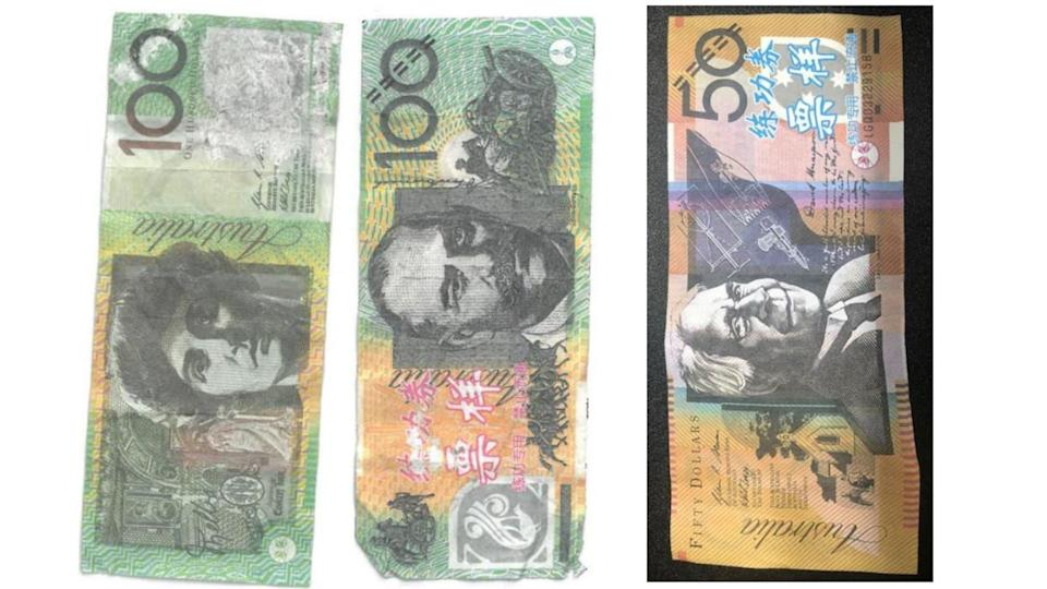 Keep an eye out for these 'notes'. Images: Tasmania Police.