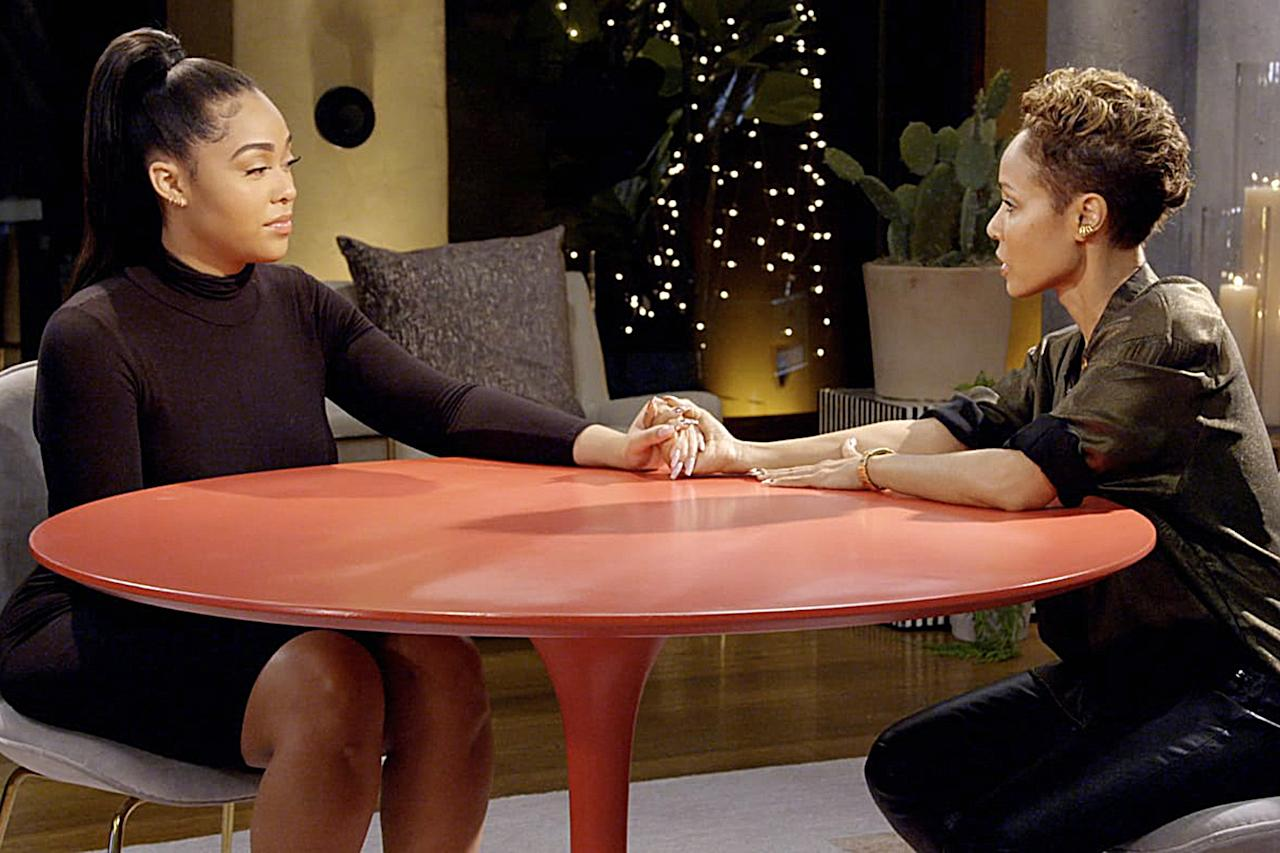 """<a href=""""https://people.com/tv/jordyn-woods-red-table-talk-interview-tristan-thompson-khloe-kardashian/"""">Jordyn Woods broke her silence</a> on R<em>ed Table Talk</em> after she was allegedly caught cheating with Tristan Thompson. Woods, 22, has known Smith and Pinkett Smith since childhood, and sought the opportunity to tell her side of the story on the Facebook Watch show, telling Pinkett Smith she did kiss the NBA player but did not sleep with him.  """"Never a thought, never a consideration, never happened, and never will I,"""" Woods said of allegations she slept with Thompson. """"And that's why I'm willing to be put up to the test. Attach me to a lie detector, whatever it is. I need people to know the truth, and more importantly, I need the people involved to know the truth."""""""