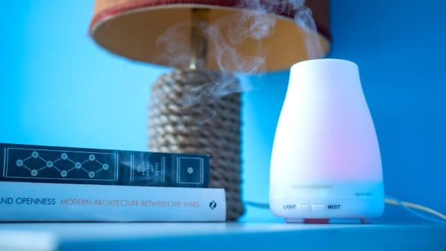 Essential oil diffusers are safer than candles but still fill your home with smells that make you happy.