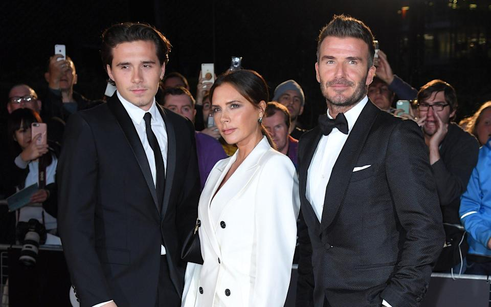 The Beckhams with their eldest, Brooklyn - Karwai Tang/WireImage