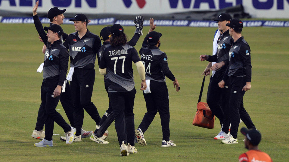 New Zealand's move to withdraw from their tour of Pakistan just hours before the first ODI was scheduled to start has been an unpopular move with the nation's cricket fans. (Photo by MUNIR UZ ZAMAN/AFP via Getty Images)