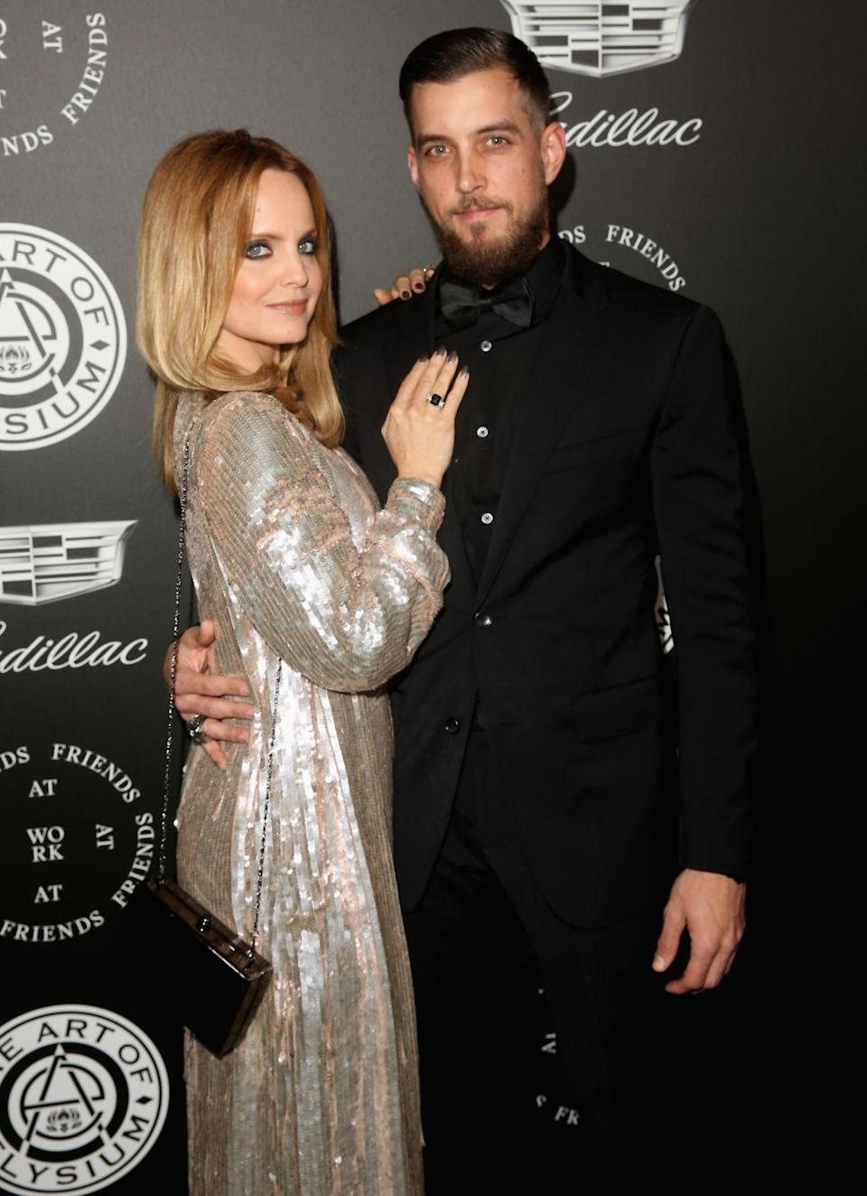 Mena Suvari and Michael Hope