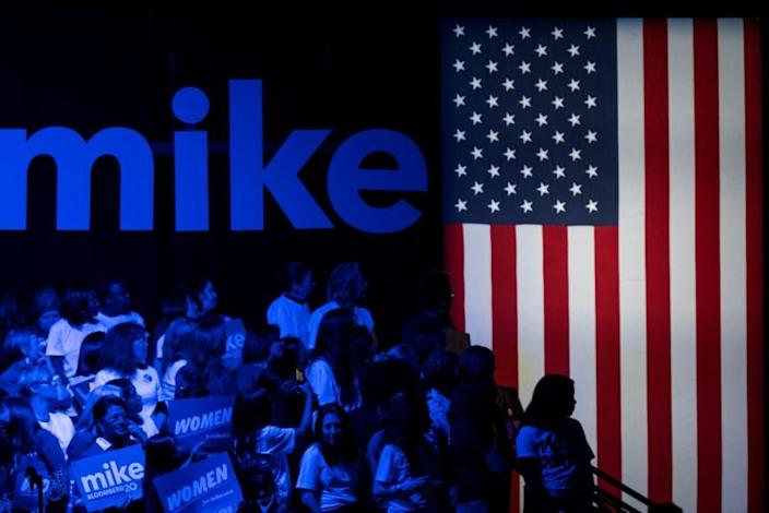 """Women attend the campaign event """"Women for Mike"""" by Democratic U.S. presidential candidate Bloomberg in the Manhattan borough of New York City, New York"""
