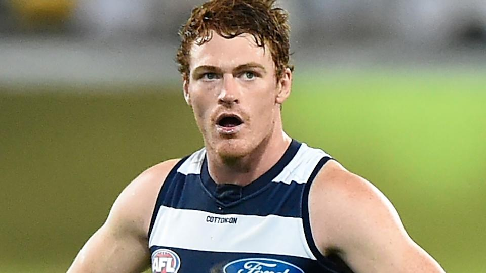 Gary Rohan, pictured here in action for Geelong during the 2020 AFL Grand Final.