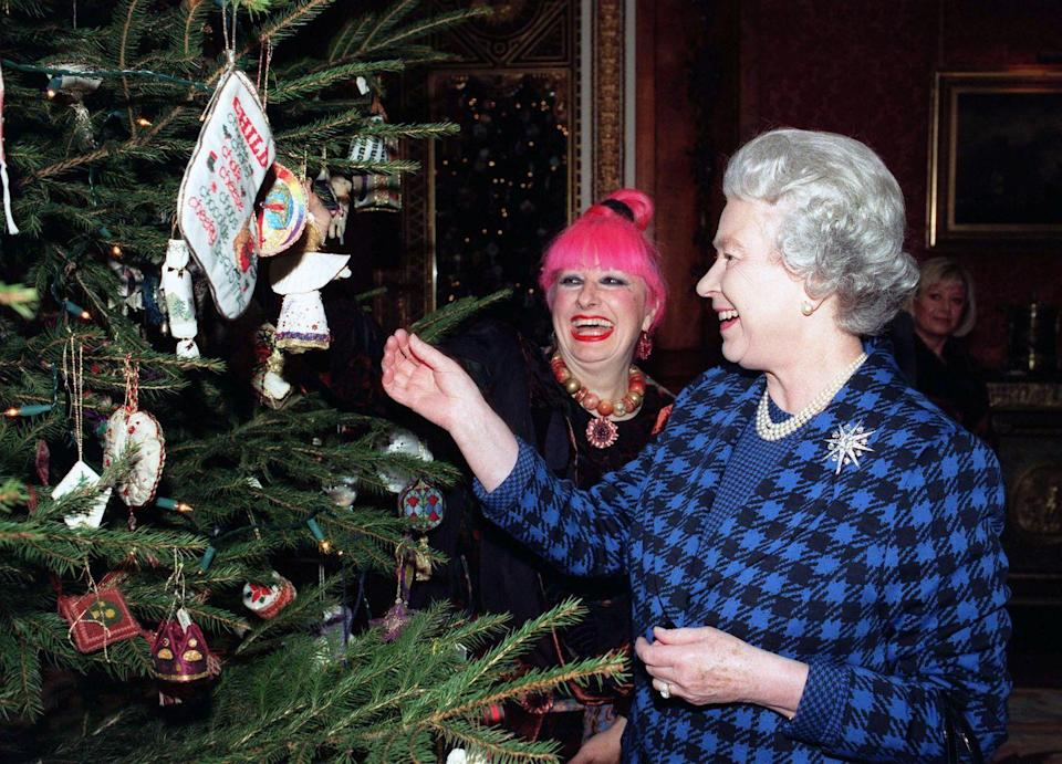 """<p>According to <em><a href=""""https://www.thesun.co.uk/fabulous/10510311/royal-family-christmas-tradition-queen-martini-prince-philip-tree/"""" rel=""""nofollow noopener"""" target=""""_blank"""" data-ylk=""""slk:The Sun"""" class=""""link rapid-noclick-resp"""">The Sun</a></em>, the Queen approves royal decorations at <em>all</em> official royal residences for the holidays. </p>"""