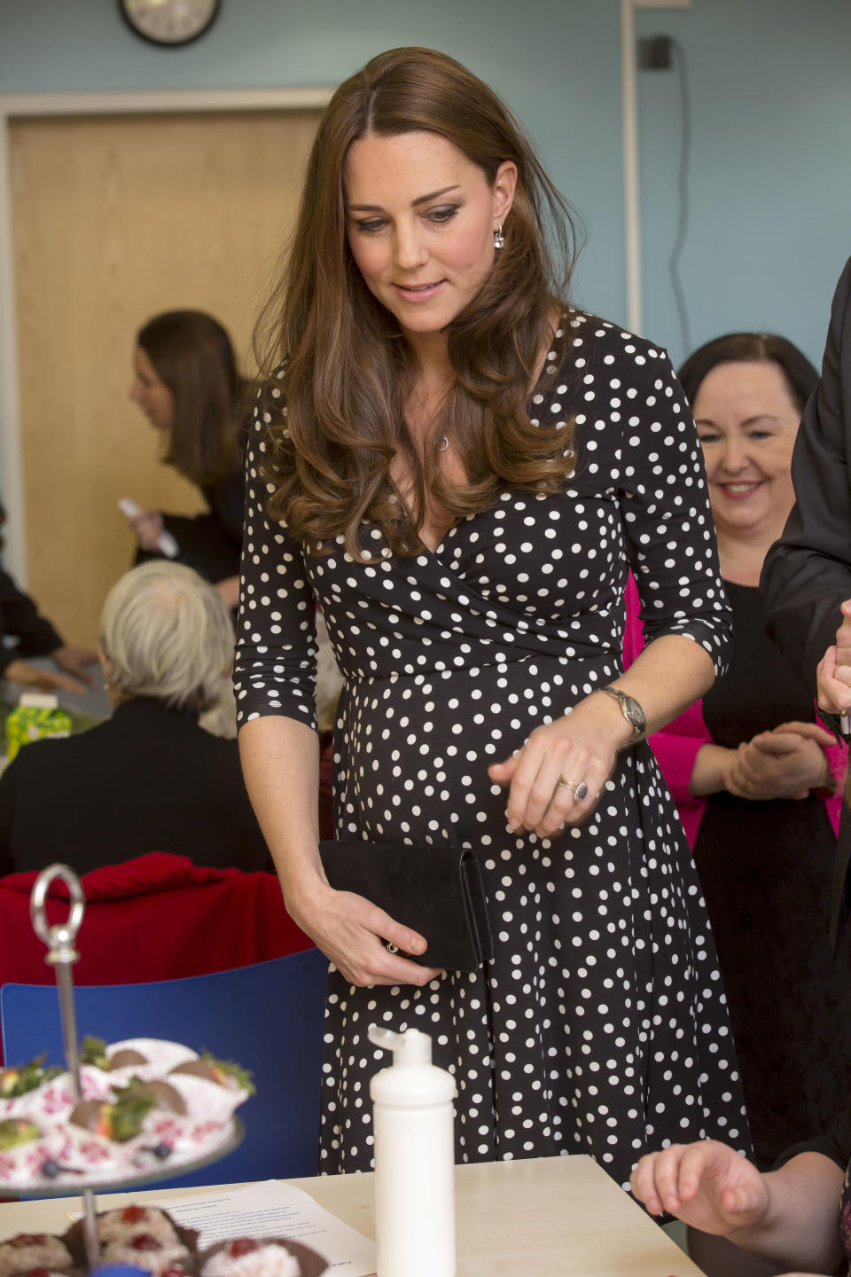 The Duchess in March 2015, about a month and a half before giving birth to Princess Charlotte. <i>(Getty Images)</i>