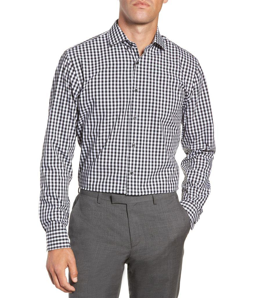 Nordstrom Tech-Smart Trim Fit Stretch Check Shirt (Photo: Nordstrom)