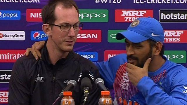 MS Dhoni grilled a reporter who questioned his fitness