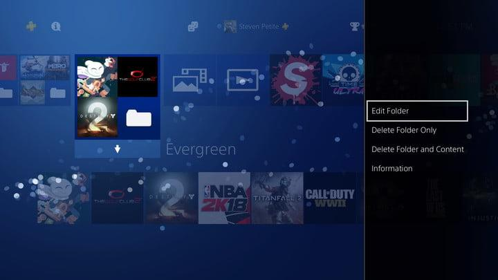 how to organize ps4 game library 20180110125123