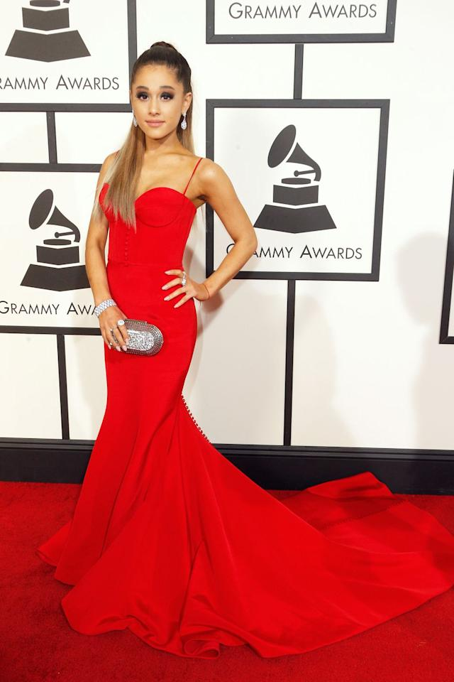 "<p>Grande was originally scheduled to perform at the ceremony, but things went awry after <a rel=""nofollow"" href=""https://www.harpersbazaar.com/celebrity/latest/a26178730/ariana-grande-not-going-to-grammys-2019/"">disagreements with the Grammys producers</a>. The songstress <a rel=""nofollow"" href=""https://twitter.com/ArianaGrande/status/1093627215600734208?ref_src=twsrc%5Etfw%7Ctwcamp%5Etweetembed%7Ctwterm%5E1093627215600734208&ref_url=https%3A%2F%2Fwww.harpersbazaar.com%2Fcelebrity%2Flatest%2Fa26178730%2Fariana-grande-not-going-to-grammys-2019%2F"">clarified</a> that she will no longer be attending the ceremony when she felt her ""creativity & self expression [were] stifled."" </p><p>Despite missing the ceremony, the singer <a rel=""nofollow"" href=""https://twitter.com/RecordingAcad/status/1094727232721801216"">secured her first Grammy win</a> with Best Pop Vocal Album for her LP, <em>Sweetener</em>. Though she wasn't at the Staples Center, she had a great time <a rel=""nofollow"" href=""https://www.instagram.com/p/BtuUHNClbEC/"">flaunting her Zac Posen gown</a> from home on Instagram. </p>"