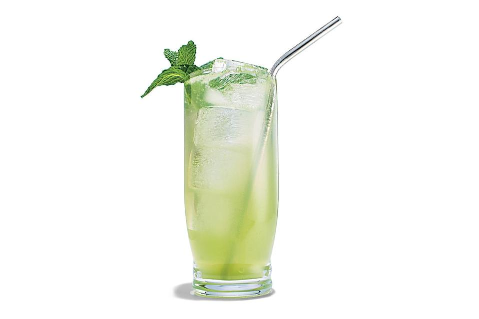 """This is an ideal time to practice your mojito. Do muddle the mint sprigs, but don't grind them into a bitter paste. <a href=""""https://www.epicurious.com/recipes/food/views/mojito-rum-cocktail?mbid=synd_yahoo_rss"""" rel=""""nofollow noopener"""" target=""""_blank"""" data-ylk=""""slk:See recipe."""" class=""""link rapid-noclick-resp"""">See recipe.</a>"""