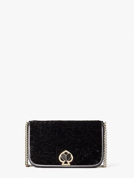 <p><span>Nicola Velvet Twistlock Chain Wallet</span> ($258)</p>