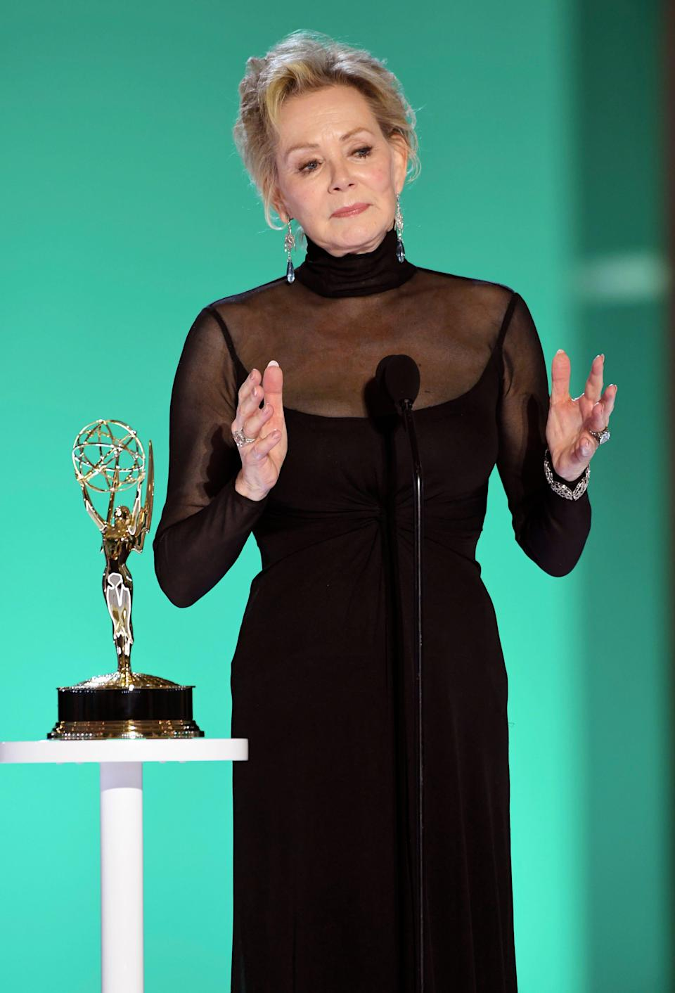 """Jean Smart accepts the award for outstanding lead actress in a comedy series for """"Hacks."""""""