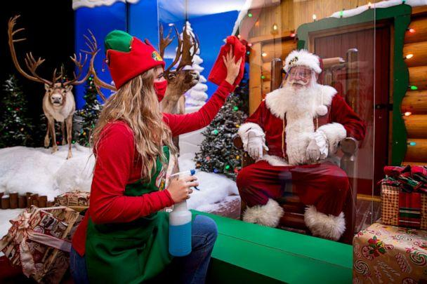 PHOTO: Cleaning takes place between each Santa visit at Bass Pro Shops.  (Bass Pro Shops)