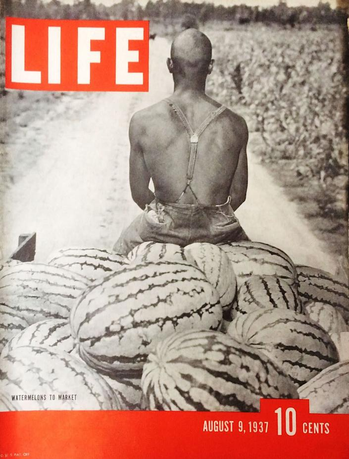 This 1937 Life Magazine cover depicts a black watermelon farmer. (Photo: LIFE)