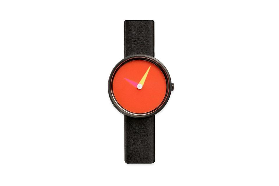 """$125, Moma Store. <a href=""""https://store.moma.org/jewelry-accessories/watches/blend-watch/1934.html?dwvar_1934_color=Red&cgid=jewelry-acc-watches"""" rel=""""nofollow noopener"""" target=""""_blank"""" data-ylk=""""slk:Get it now!"""" class=""""link rapid-noclick-resp"""">Get it now!</a>"""