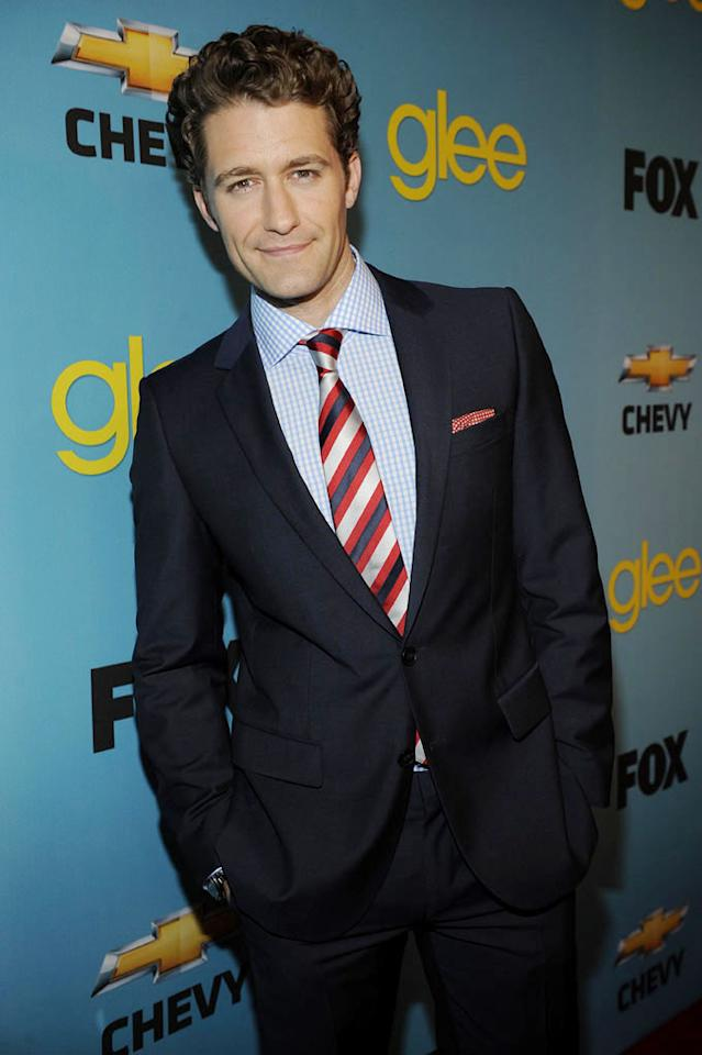 """<a href=""""/matthew-morrison/contributor/1142846"""">Matthew Morrison</a> (""""Will Schuester"""") arrives at Fox's <a href=""""/glee/show/44113"""">""""Glee""""</a> Spring Premiere Soiree at Chateau Marmont on April 12, 2010 in Los Angeles, California."""