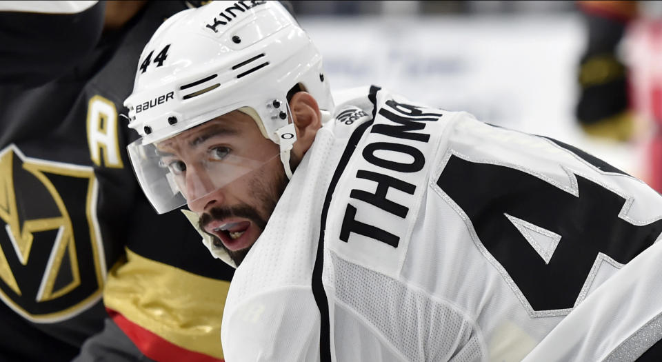 Two years ago, Nate Thompson decided that enough was enough and made a huge change in his life. (Photo by David Becker/NHLI via Getty Images)