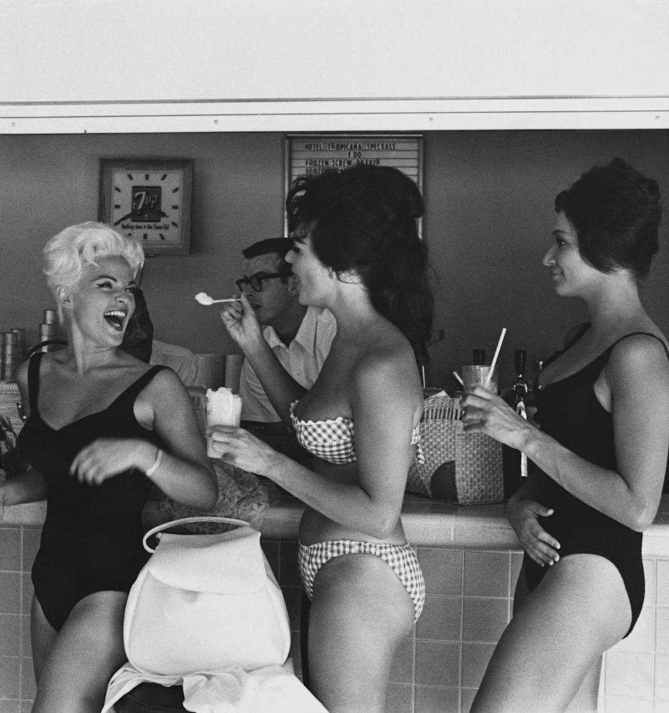 <p>This group of gals are pairing their frozen treats with some fun in the sun. </p>