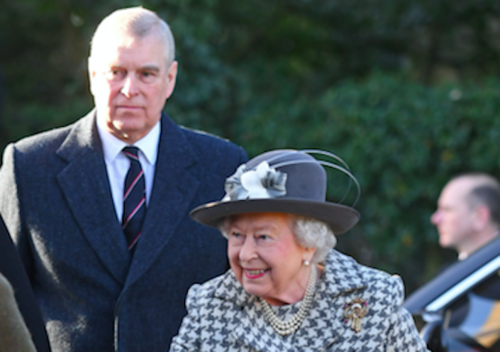 Prince Andrew joined the Queen at a church service on Sunday. (PA)