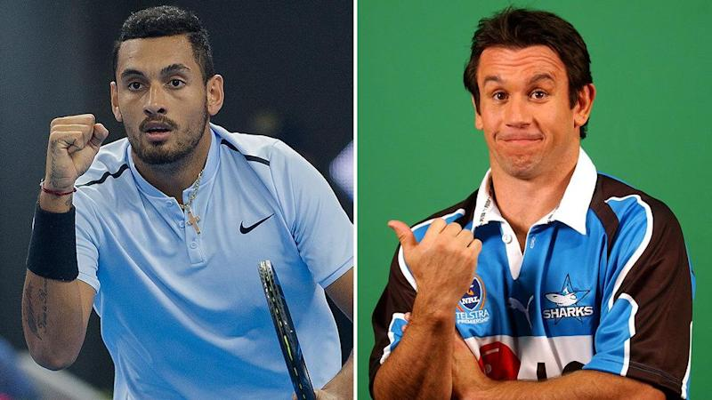 Kyrgios and Johns. Pic: Getty