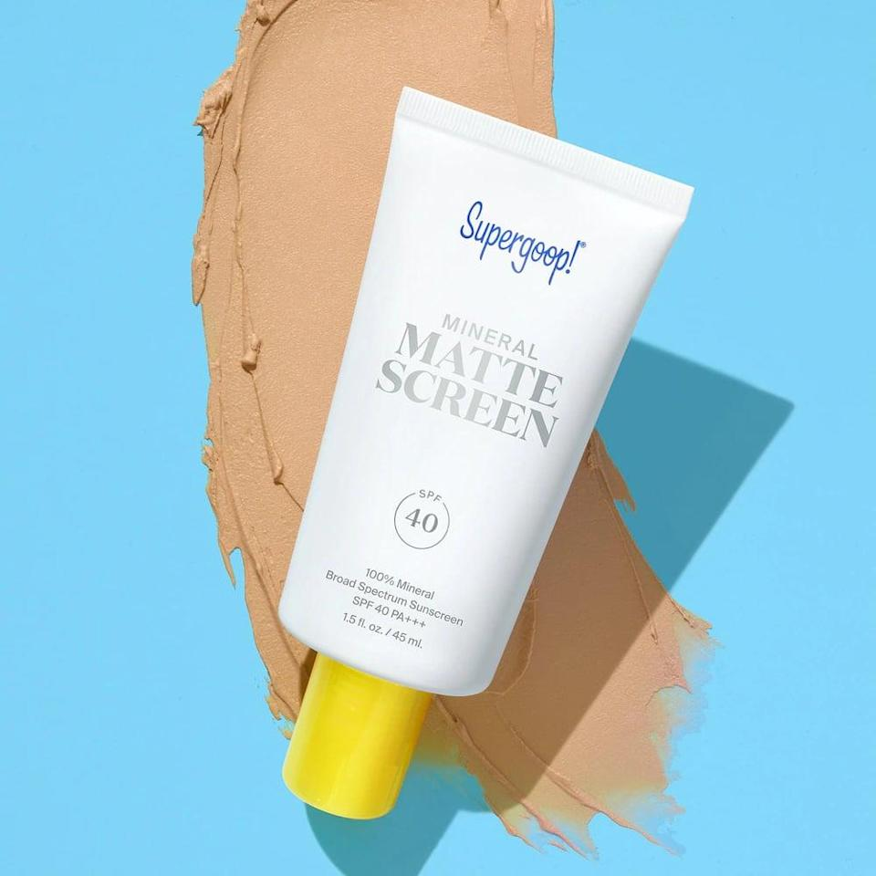 <p>If you have oily skin, this <span>Supergoop! Mineral Mattescreen SPF 40 PA+++</span> ($38) is for you. It's a matte finish that will make you feel like you can take on the hottest days of the year.</p>