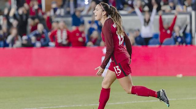 """<p>A year after the USWNT put four players on the FIFPRO Women's World XI (Hope Solo, Carli Lloyd, Ali Krieger and Alex Morgan), the latter is the only one who returned for the 2017 version. Morgan, who moved to Lyon and won the French cup, league and a Champions League title while abroad, has only continued to impress after returning from France. Back in the NSWSL with the Orlando Pride, Morgan sounded excited about being chosen once again as one of the best players in the world.</p><p>""""It's always exciting to be considered as one of the top players in the world,"""" Morgan said. """"For women's football to have our own World XI is incredible. It helps promote the women's game. It helps female footballers recognize the talent among their peers and I'm really happy to encourage and be a part of that.""""</p><p>The award was announced on Thursday for International Women's Day and according to FIFPro, more than 4,100 female players at first-division teams across 45 countries participated in the voting.</p><p>Here is the full FIFPro Women's World XI for 2016 (along with current club/country):</p><p><strong>GOALKEEPER</strong>: Hedvig Lindahl (Chelsea/Sweden)</p><p><strong>DEFENDERS</strong>: Lucy Bronze (Lyon/England), Nilla Fischer (Wolfsburg/Sweden), Irene Paredes (PSG/Spain)</p><p><strong>MIDFIELDERS</strong>: Dzsenifer Marozsan (Lyon/Germany), Camile Abily (Lyon/France), Marta (Rosengard/Brazil)</p><p><strong>FORWARDS</strong>: Alex Morgan (Orlando Pride/USA), Pernille Harder (Wolfsburg/Denmark), Lieke Martens (Barcelona/Netherlands)</p>"""