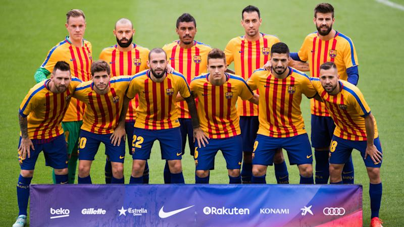 Barcelona closes ground to spectators for home match amid political strife