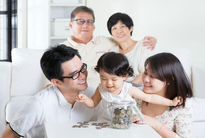 giving money to parents
