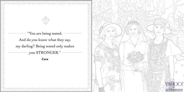 The Downton Abbey Coloring Book Is Available For Sale Starting In May And Can Be Preordered Here